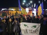 10.000 de oameni au protestat în Piața Victoriei față de modificările legilor Justiției