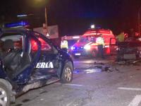 Patru jandarmi aflați în misiune, implicați într-un accident în Capitală