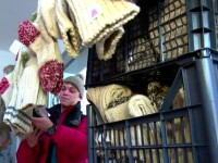 Vânzările de şosete de lână au explodat în urma protestelor.