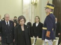 Familiile Regale ce participă la Funeraliile Regelui Mihai I. Regii Spaniei au adus un ultim omagiu