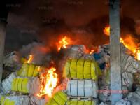 Incendiu puternic la un depozit din Vaslui