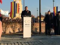 Klaus Iohannis a participat la ceremoniile de la Alba Iulia. Discursul președintelui. VIDEO