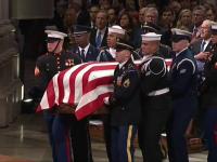 Funeralii de stat pentru George Bush Sr., la Washington. Gestul făcut de Trump în timpul ceremoniei