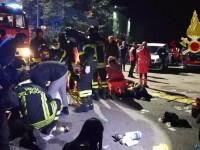 Șase tineri au murit într-o busculadă dintr-un club de noapte din Italia. Sunt peste 100 de răniți