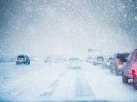 Lapovița și ninsorile domină aproape toată țara. Vreme destul de mohorâtă