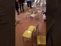 Bătaie între părinţi pentru un loc în faţă la serbarea de Crăciun a celor mici. VIDEO