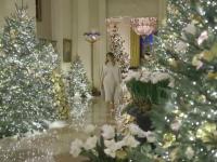 Atmosferă de basm la Casa Albă, înainte de Crăciun. Ce decorațiuni a ales Melania Trump