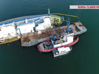 Haos în cazul navei răsturnate în portul Midia. România, obligată să gestioneze problema