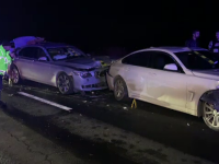 """Accident în lanț pe A1. Șase mașini avariate și patru persoane rănite. """"M-a făcut acordeon"""""""