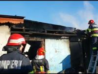 Gospodărie distrusă în urma unui incendiu. Familia a rămas pe drumuri, în prag de Sărbători