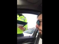VIDEO. Șoferul unui BMW, prins fără numere de înmatriculare, reclamă un abuz al polițiștilor