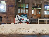 VIDEO. Temperaturi record la Moscova. Primăria a adus troiene de zăpadă artificială pe străzi