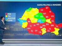 Harta politică a României după alegerile parlamentare. În 20 de județe AUR a obținut mai multe voturi decât USR PLUS