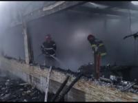 Incendiu violent la un magazin alimentar din județul Galați. Paguba se ridică la aproape 100.000 lei