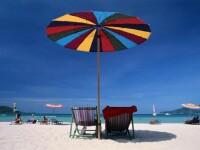 Umbrela pe plaja