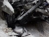 Carambol pe DN1 de la ceata! Un mort, doi raniti si zece masini avariate
