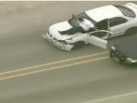 Urmarire ca-n filme! A iesit din masina in mers ca sa scape de politie!