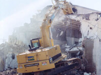 Demolare spectaculoasa in centrul Bucurestiului! VEZI VIDEO