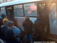 Suceava: un autobuz plin cu calatori a intrat intr-o farmacie