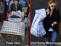 Julia Roberts si-a luat geanta a la Bucur Obor: plasa de rafie. FOTO