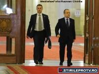 Premierul Boc e in turneu la aliatii politici. Lupta pentru Codul Muncii