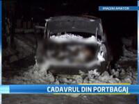 Descoperire macabra intr-un taxi care ardea ca o torta: cadavrul soferului se afla in portbagaj