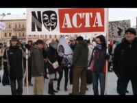 Mii de oameni au prostestat in mai multe orase din tara impotriva ACTA. VIDEO