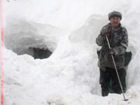 Iarna ingenuncheaza Romania. Stare de alerta in Vrancea pe durata codului portocaliu