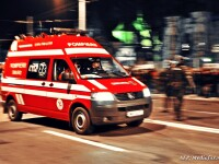 Accident grav in Cluj. Un motociclist a ajuns in stare grava la spital dupa ce s-a izbit violent de un stalp