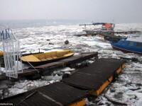 Topirea banchizelor provoaca dezastru pe Dunare. Zeci de nave distruse: