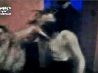 K-1 cu sanii goi. O moldoveanca si-a batut prietenul mar, intr-un club. VIDEO filmat cu telefonul