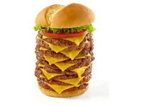 Cea mai mare bomba calorica de pe meniul unui fast food din SUA. Cum arata burgerul de 5100 calorii