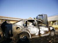 Autoturism Mitsubishi incendiat in Capitala. Surse judiciare: focul a fost pus din razbunare