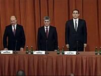 Bilant cu usile inchise la MAPN. Traian Basescu si Victor Ponta au participat la sedinta