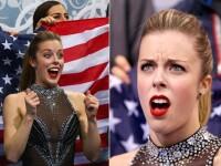 Imaginea zilei la Jocurile Olimpice de la Soci: reactia patinatoarei Ashley Wagner atunci cand si-a vazut nota