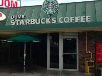 Cafeneaua care parodiaza Starbucks. S-a deschis in Los Angeles si are un succes imens