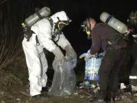O noua alerta in Arad. Au fost gasite abandonate alte 50 de flacoane cu substante toxice. Ipoteza politiei in acest caz