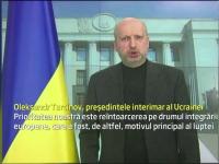 Ucraina isi mentine dorinta de-a face parte din familia europeana. Presedintele demis e in continuare de negasit