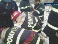 Salvata de pompieri dupa ce a cazut intr-o fantana adanca de 6 metri. Femeia a dat vina pe iubit pentru accident