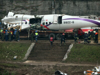 De ce s-a prabusit avionul TransAsia. Pilotii aeronavei ar fi oprit din greseala al doilea motor