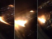 """Un pasager a filmat momentul in care un motor al avionului in care se afla a luat foc: """"Am crezut ca va exploda"""". VIDEO"""