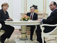 Criza in Ucraina. Hollande, Porosenko, Putin si Merkel au constatat