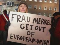 Protest cu 15.000 de oameni la Atena. Mesajul grecilor pentru Angela Merkel si Uniunea Europeana
