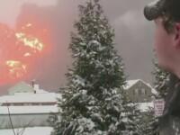 14 vagoane de tren cu petrol au deraiat in statul american Virginia de Vest. Doua orase au fost evacuate. VIDEO