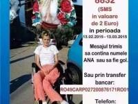 Solista de muzica populara Anamaria, imobilizata in urma unui accident, are nevoie de ajutor
