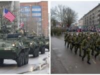 Tancuri si blindate NATO la granita cu Rusia. Cum