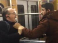 Incident violent, filmat la metrou, in Munchen. Motivul pentru care un grup de imigranti a atacat doi pensionari. VIDEO