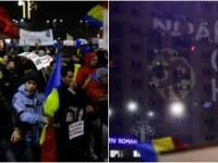 A patra zi de proteste. Peste 100.000 de oameni au fost in Piata Victoriei. La ora 22.00, oamenii au cantat Imnul