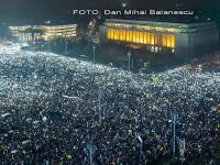 Ziua a 6-a de proteste. Aproape 280.000 de oameni au fost in fata Guvernului. Moment emotionant de reculegere pentru Colectiv