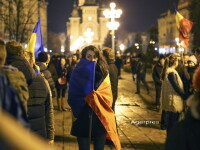 Imagini de la cele mai mari proteste din istoria tarii. La Sibiu 40.000 de oameni au iesit in strada, la Cluj au fost 50.000